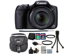 Canon PowerShot SX530 Digital Camera Black + 67mm UV Filter + Adapter + 24GB Memory Card + Wallet + Reader + Dust Blower + Case + 3pc Cleaning Kit + Mini Tripod