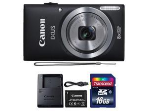 Canon IXUS 185 / ELPH 180 20MP Digital Camera Black with 16GB Memory Card