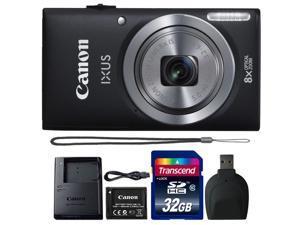 Canon IXUS 185 / ELPH 180 20MP Digital Camera Black with 32GB Accessory Bundle