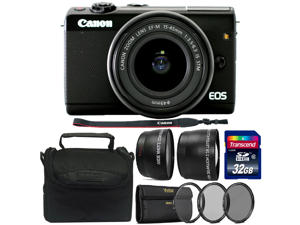 Canon EOS M100 Mirrorless Camera with 15-45mm IS STM Lens and 32GB Accessory Kit