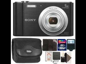 Sony Cyber-Shot DSC-W800 20.1MP Digital Camera Black with 32GB Accessory Kit