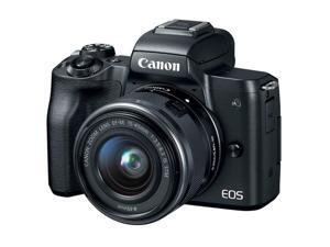 Canon EOS M50 Mirrorless Built-in Wi-Fi 24.1MP Digital Camera + 15-45mm Lens (Black)