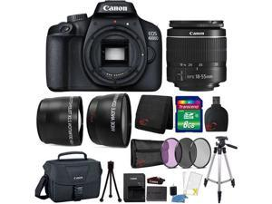 Canon EOS 4000D 18MP Wi-Fi / NFC DSLR Camera + 18-55mm Lens + 8GB Ultimate Accessory Kit