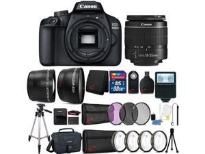 Canon EOS 4000D 18MP Wi-Fi / NFC DSLR Camera + 18-55mm Lens + 32GB Ultimate Accessory Kit