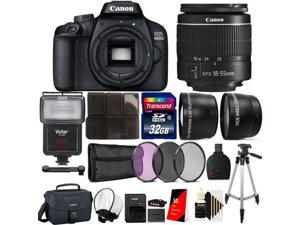 Canon EOS 4000D 18MP Wi-Fi / NFC DSLR Camera with 18-55mm lens + SF-4000 Ultimate Accessory Kit
