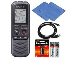SONY ICD-PX240 Mono 4GB Digital Voice Recorder with Extra Batteries