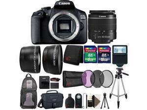 Canon EOS 2000D / Rebel T7 24.1MP Digital SLR Camera + 18-55mm Lens, Backpack, Canon Case + Bundle