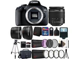 Canon EOS 2000D / Rebel T7 24.1MP Digital SLR Camera + 18-55mm Lens + 32GB Accessory Bundle