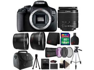 Canon EOS 2000D / Rebel T7 24.1MP Digital SLR Camera + 18-55mm Lens + All You Need Accessory