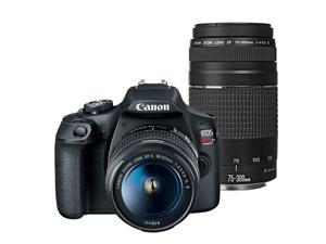 Canon EOS Rebel T7 24.1MP DSLR Camera with Canon 18-55mm IS II +  Canon EF 75-300mm f/4.0-5.6 III Lens