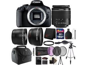 Canon EOS 2000D / Rebel T7 24.1MP Digital SLR Camera with Canon 18-55mm Lens + 16GB Accessory Bundle