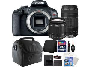 Canon EOS Rebel T7 DSLR Camera with 18-55mm Lens + 75-300mm Accessory Kit