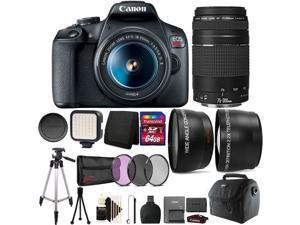 Canon EOS Rebel T7 DSLR Camera with 18-55mm Lens + 75-300mm Lens Kit