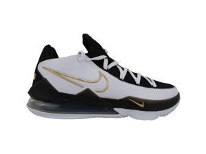 Nike Lebron XVII Low White/Metallic Gold-Black CD5007-101 Men's Size 12.5 Medium