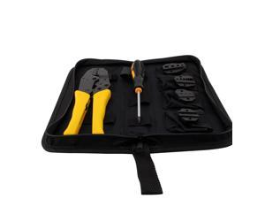 JX-D4 Professional Ratchet Wire Crimp Tool Set 4 in 1 Multifunction Ratchet Pliers 26-10 AWG  terminal pliers kit