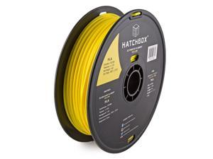 HATCHBOX 3D PLA-1KG3.00-YLW PLA 3D Printer Filament, Dimensional Accuracy +/- 0.05 mm, 1 kg Spool, 3.00 mm, Yellow