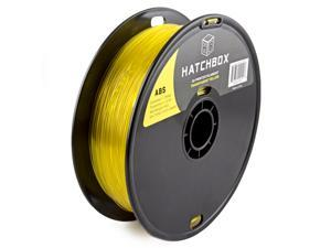 HATCHBOX 3D ABS-1KG1.75-TYLW ABS 3D Printer Filament, Dimensional Accuracy +/- 0.05 mm, 1 kg Spool, 1.75 mm, Transparent Yellow