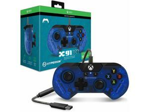Hyperkin X91 Ice Wired Controller for Xbox One/ Windows 10 PC (Pacific Blue) - Officially Licensed By Xbox