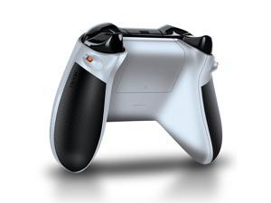Bionik Quickshot Custom Rubber Grip w/ Dual Setting Trigger Lock for Xbox One Controller - White