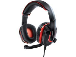 dreamGEAR GRX-440 Wired High Performance Headset + Mic and Volume Controls for Nintendo Switch, PS4, and Xbox One - Red/Black