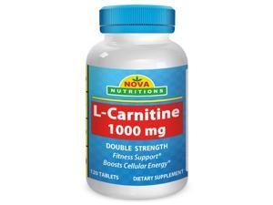 Nova Nutritions L-Carnitine 1000mg 120 Tablets - Carnitine for energy and fitness support