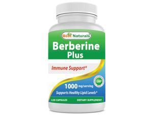 Best Naturals Berberine Plus 1000 Mg per Serving 120 Capsules