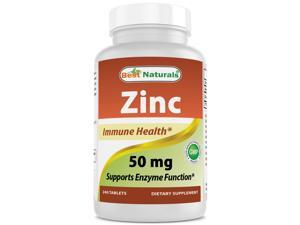 Best Naturals Zinc Gluconate 50mg 240 Tablets