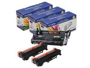 Brother DR 730 and Two TN 760 Compatible Toner Cartridges (With Chips) TN760 HY TN730 Delivers 3K Pages ; HL L2350DW L2370DW L2370DWXL L2390DW L2395DW & MFC L2710DW L2730DW L2750DWXL & DCP L2550DW