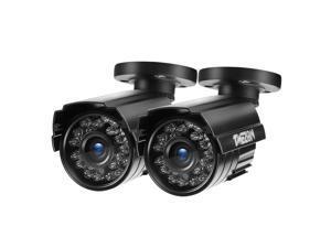 TMEZON 2pcs Hybrid AHD Security Camera 1080P TVI/AHD/CVI/960H 2.0MP 2000TVL Bullet Day Night Vision 24 IR LEDs Outdoor/Indoor Wide Angle 3.6mm Lens for CCTV Camera System (Default AHD Mode)