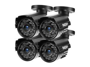 TMEZON 4pcs Hybrid AHD Security Camera 1080P TVI/AHD/CVI/960H 2.0MP 2000TVL Bullet Day Night Vision 24 IR LEDs Outdoor/Indoor Wide Angle 3.6mm Lens for CCTV Camera System (Default AHD Mode)