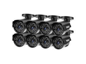TMEZON 8pcs Hybrid AHD Security Camera 1080P TVI/AHD/CVI/960H 2.0MP 2000TVL Bullet Day Night Vision 24 IR LEDs Outdoor/Indoor Wide Angle 3.6mm Lens for CCTV Camera System (Default AHD Mode)