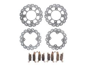4pcs Front /& Rear Brake Rotors Disc for Yamaha YFM 700 Grizzly 2007 2008 2009