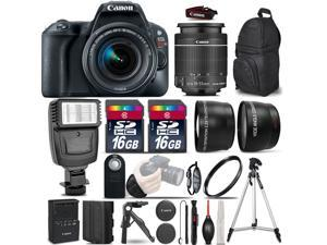 Canon EOS Rebel SL2 DSLR w/ 18-55mm Lens + Flash + Extra Battery & More