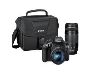 Canon EOS Rebel T7 EF-S 18-55mm IS II USM & 75-300MM III Kit with Canon Case
