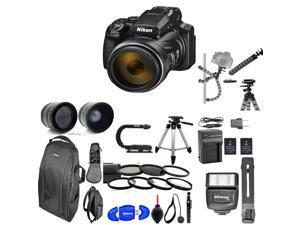 Nikon Coolpix P1000 16MP 125x Super-Zoom Digital Camera + Lens Complete 77mm HD 8K Accessory kit | Flash | Lenses | Backpack & More