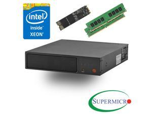 Supermicro SYS-E200-8D Intel Xeon D, 6-Core, 2x10GbE, Mini 1U Server, w/ 16G DDR4, 256GB M.2 SSD