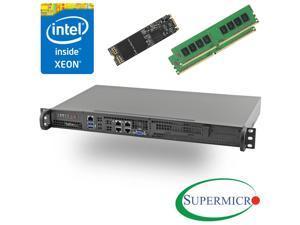 Supermicro 5018D-FN4T Xeon D 8-Core Front 1U Rackmount,Dual 10GbE, 16GB, 256G M.2 SSD