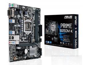 ASUS PRIME B250M-K LGA 1151 Intel B250 SATA 6Gb/s USB 3.0 Micro ATX Motherboards - Intel