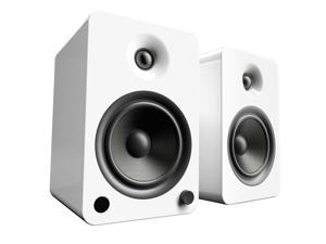 Kanto YU6 Powered Bookshelf Speakers with Bluetooth® and Phono Preamp for Turntable, TVs, PC — Gloss White