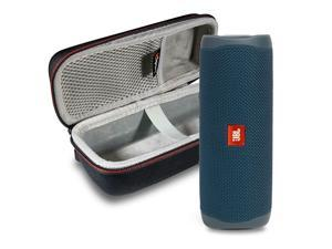 JBL FLIP 5 Portable Speaker IPX7 Waterproof On-The-Go Bundle with gSport Deluxe Hardshell Case (Blue)