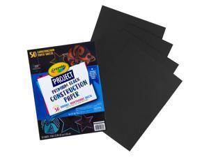 Crayola Black Construction Paper 50 Count