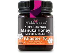 WEDDERSPOON 100% Raw Manuka Honey (Kfactor 16 - 250 Gr)