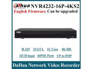 Dahua NVR4232-16P-4KS2 32 Channel 1U 16PoE 4K&H.265 Lite Network Video Recorder