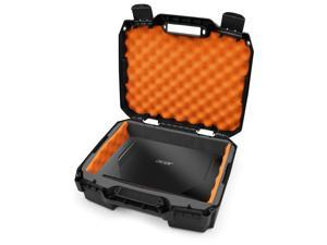 Casematix 15.6 Hard Laptop Case fits Acer Nitro 5 Gaming Laptop, Asus Zephyrus G14, MSI GS65 Stealth, Razer, Dell XPS 15, Gigabyte Aero 15 and 15 inch Gaming Laptop Accessories, in Orange Foam