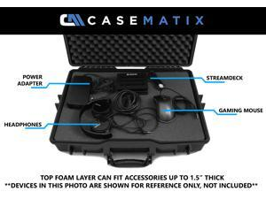 CASEMATIX Custom Waterproof Laptop Case Fits ASUS Republic of Gamers Gaming Laptops – Designed for ASUS ROG STRIX, Rog Zephyrus M, ASUS FX73VE, ASUS FX503VD, ASUS FX503VM and More with Accessories