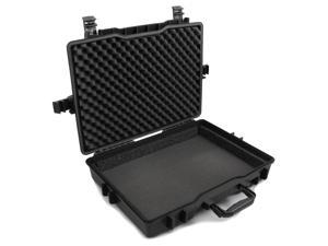 CASEMATIX Waterproof Hard Laptop Bag Carrying Case Compatible with Samsung Notebook Odyssey and Notebook Odyssey 2 Gaming Laptop - Fits 15.6-17 Inch Laptops, Power Adapters, Mouse, Keyboards