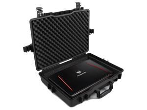 """CASEMATIX Elite Custom Waterproof Laptop Case fits Acer Predator Helios 300, Acer Predator Helios 500 and Other Acer Gaming Laptops 15.6"""" - 17.3"""" with Accessories"""
