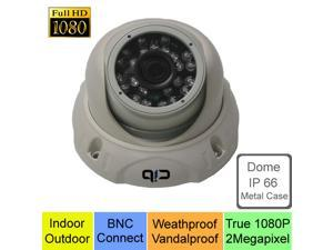 CIB True HD-TVI 1080P 2.1Megapixel HD Vandal Dome Cameras, BNC Connect Type, Connect to HD-TVI DVR system only --- T80P03W