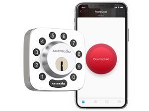 Ultraloq U-Bolt Bluetooth Enabled Keypad Smart Deadbolt Door Lock, Satin Nickel, Non-Fingerprint Version