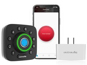 Ultraloq U-Bolt Pro Bluetooth Enabled Fingerprint and Keypad Smart Deadbolt + Ultraloq Bridge WiFi Adaptor